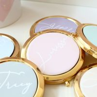 <!-- 008 -->Lerissa's Collection - Gold Compact Mirror