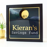 Gifts for Him - Personalised Savings Fund Money Box