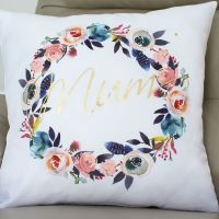 Luxury Cushion Covers - Mum floral wreath