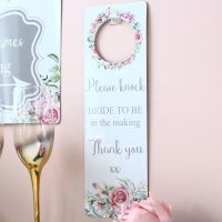 <!-- 026 -->Delicate Florals door Hanger - Please knock...