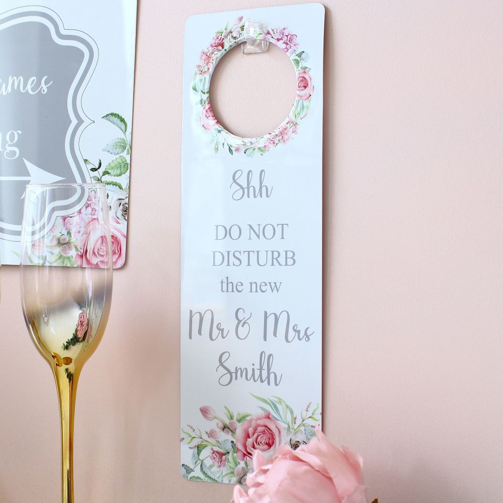 Delicate Florals door Hanger - shh do not disturb