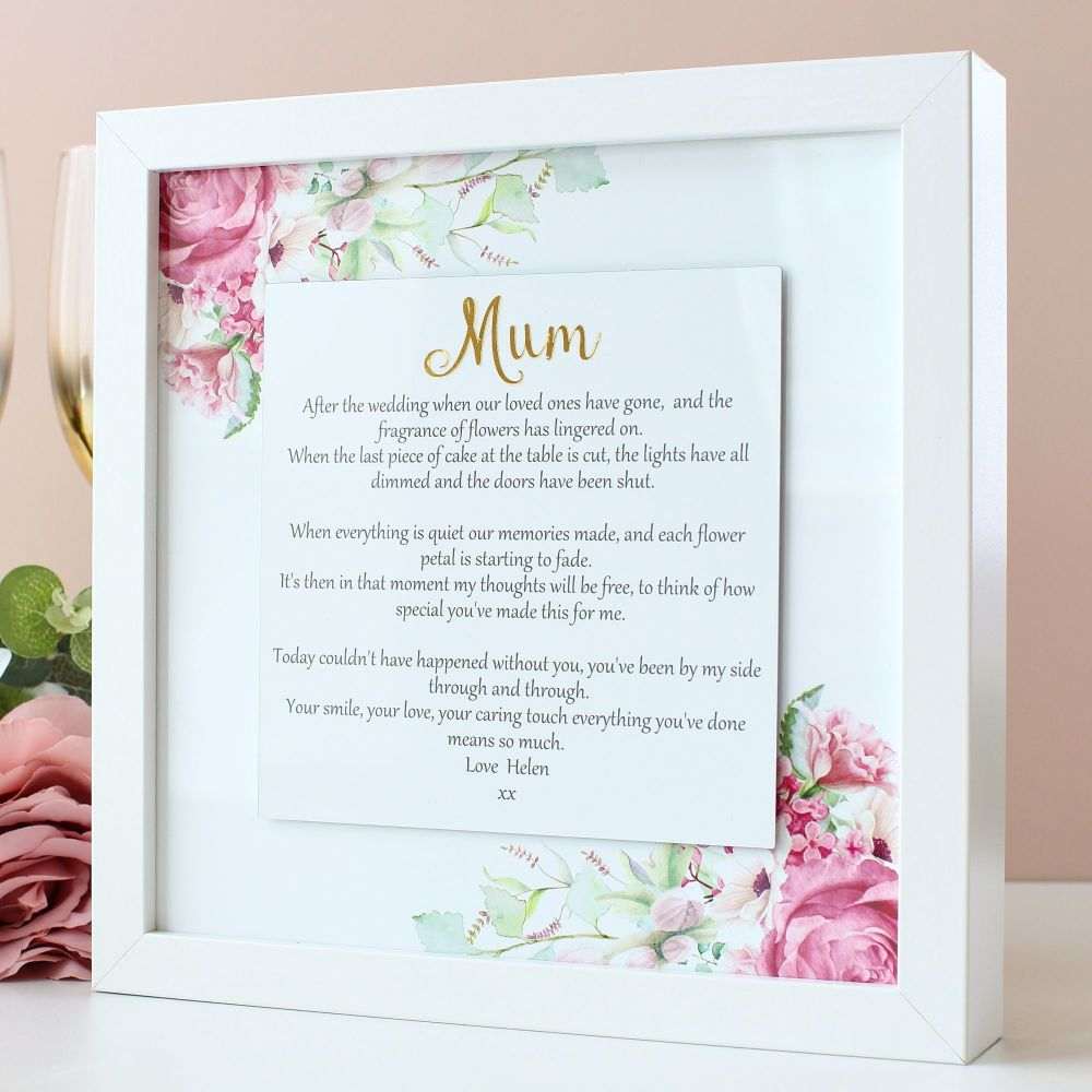 Gifts for Her - Personalised floating sentiment frame