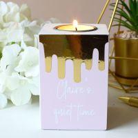 Tea light holder - melting wax