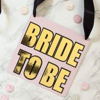 <!-- 003 -->Hen Party - Bride to Be metal plate