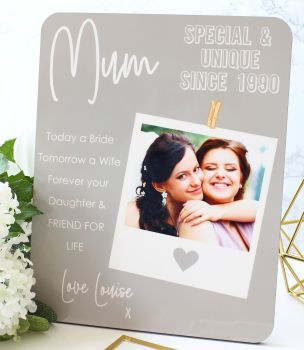 Photo plaque - Mum special & unique