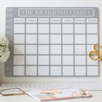 Personalised monthly dry erase planner - E12