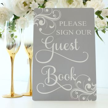 The Dove Grey Collection - Freestanding Guest Book Sign