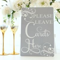 <!-- 181 -->The Dove Grey Collection - Freestanding Cards Here Sign