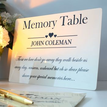 Remembrance - Memory Table Sign