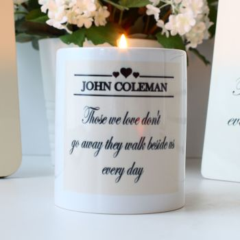 Remembrance - Personalised Candle holder
