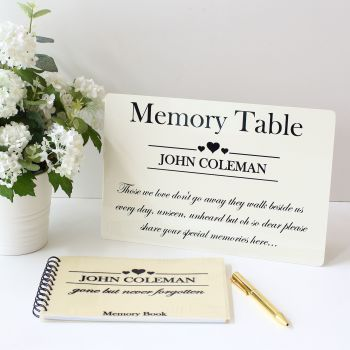 Remembrance - Guest Book & Sign set
