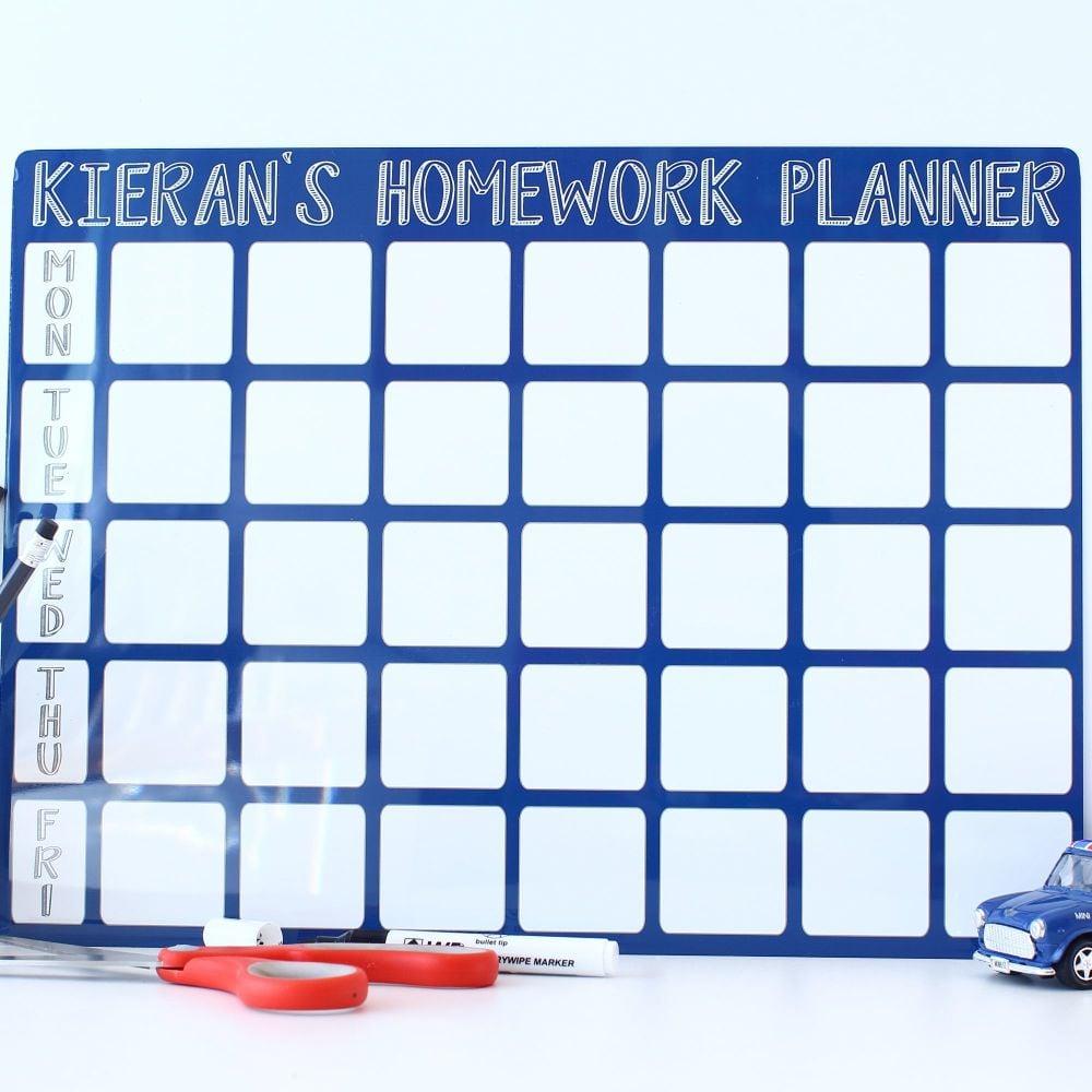 A3 Dry erase - Homework planner - E6