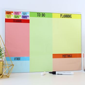 A3 Dry erase - Teacher planner - E10