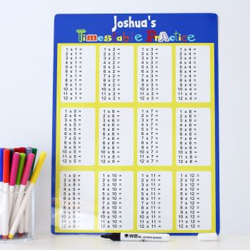 Times tables practice - Blue