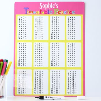 Times tables practice - Pink