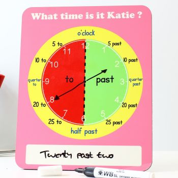 Telling the time - Pink (freestanding)