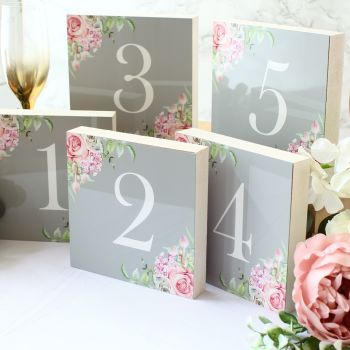 Delicate florals - Double sided table numbers