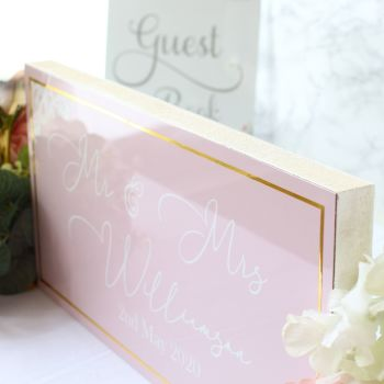 The Powder Collection - Mr & Mrs Top Table Sign