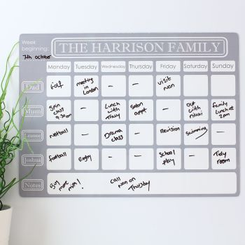 Personalised weekly dryerase planner E13