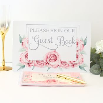 Rose Collection - Guest Book & Sign (Pink)