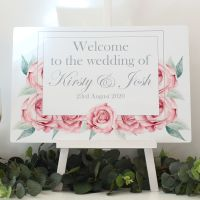 <!-- 170 -->Rose Collection - Easel Sign - Welcome sign