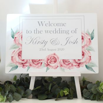 Rose Collection - Easel Sign - Welcome sign
