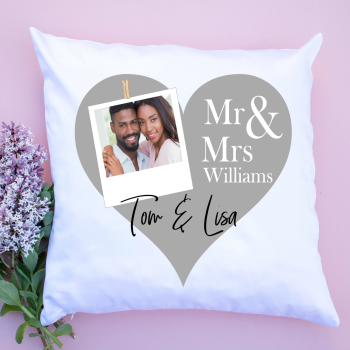 Luxury Cushion Covers - Mr & Mrs Photo