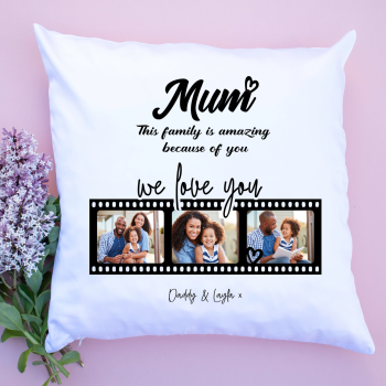 Luxury Cushion Covers - Family filmstrip
