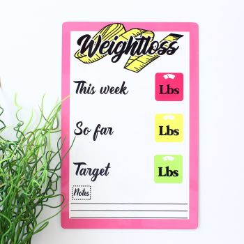 A4 Dryerase weightloss tracker