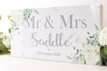 Botanical Collection - Mr & Mrs Top Table Sign