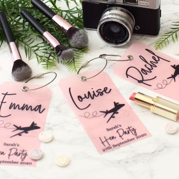 6 Luggage tags - Hen party (6 colours)