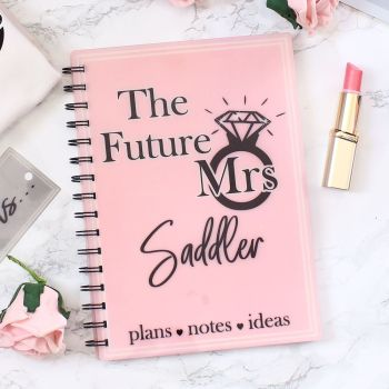 Future Mrs - Personalised notebook (6 colours)
