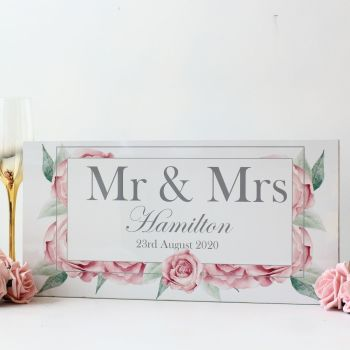Rose Collection - Mr & Mrs Top Table Sign