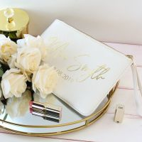 <!-- 007 --> Personalised Saffiano clutch bag