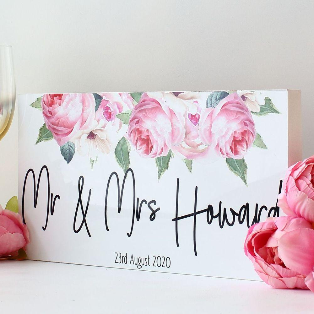 <!-- 166-->Top Table wedding sign - Rose Garden