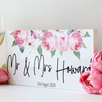 Top Table wedding sign - Rose Garden