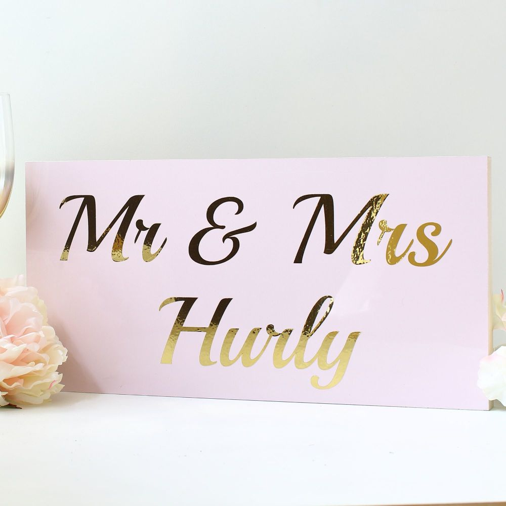 <!-- 163-->Top Table wedding sign - Blush & Gold (7 colours)