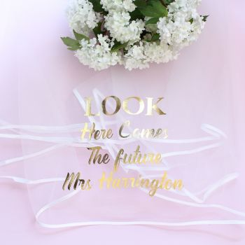 A5 Hen Party - Personalised veil