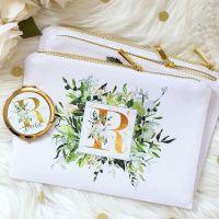 <!-- 075--> Makeup bag - Botanical Monogram