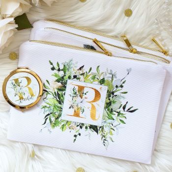 Makeup bag - Botanical Monogram