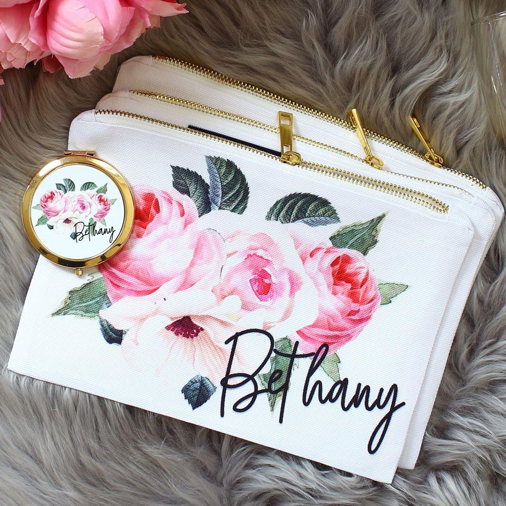 <!-- 072--> Makeup bag - Rose Garden