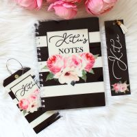 <!-- 084 --> The Rose Garden Collection - Personalised notebook travel set (Black)