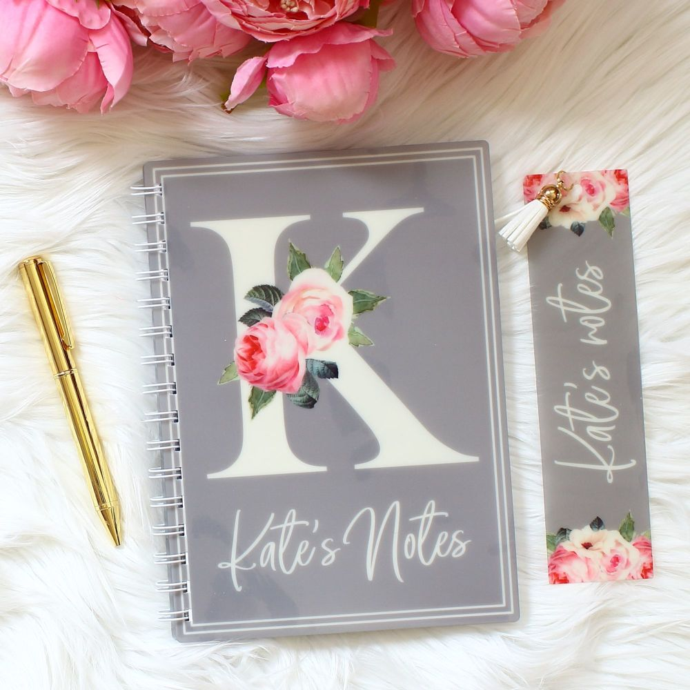 <!-- 084 --> The Rose Garden Collection - Personalised notebook set