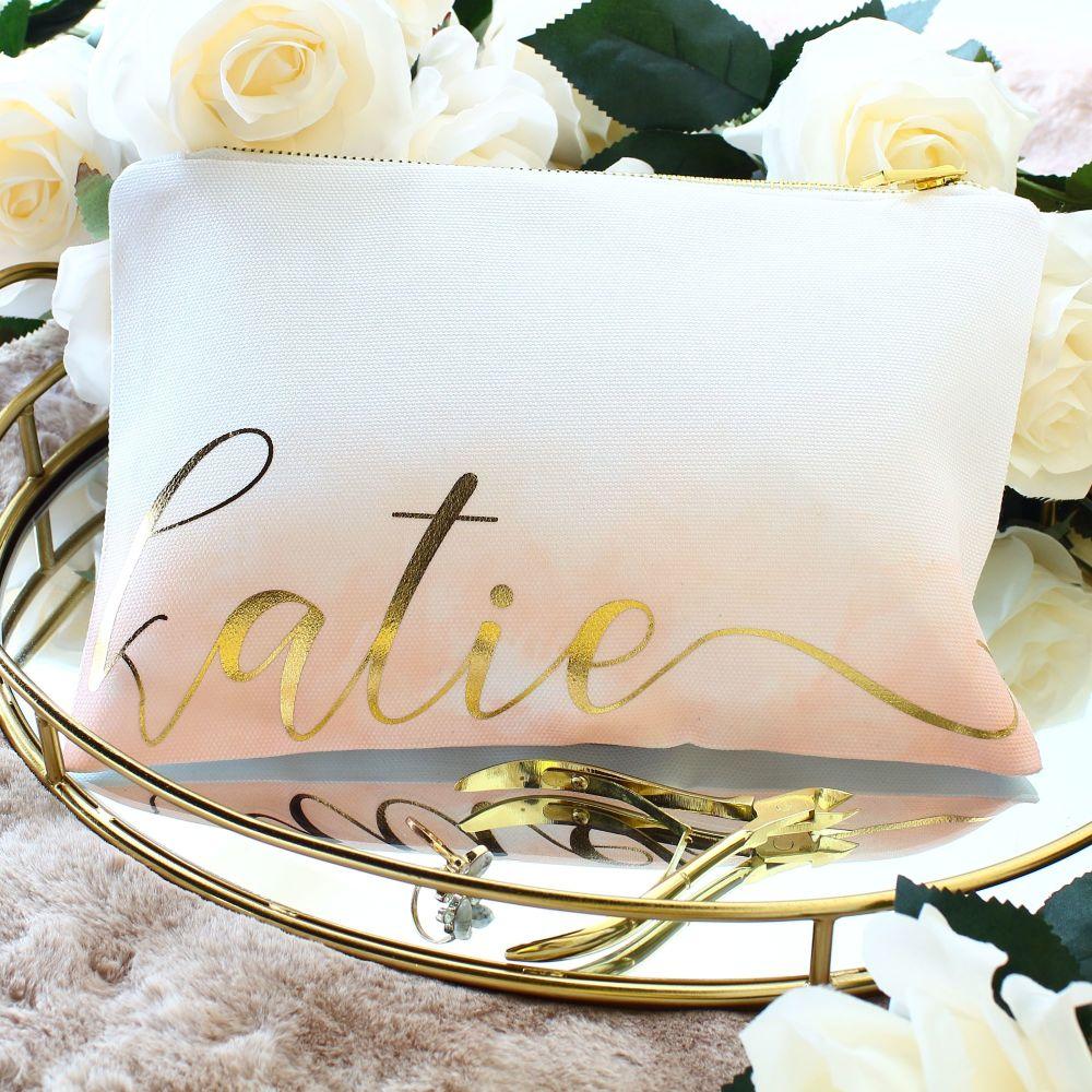 <!-- 066--> Makeup bag - Ombre (Coral)
