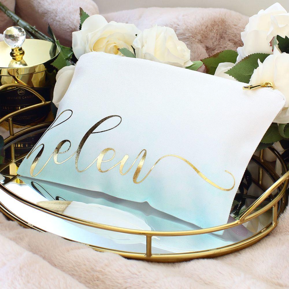 Makeup bag - Ombre (Mint)