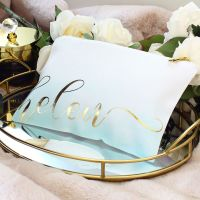 <!-- 065--> Makeup bag - Ombre (Mint)