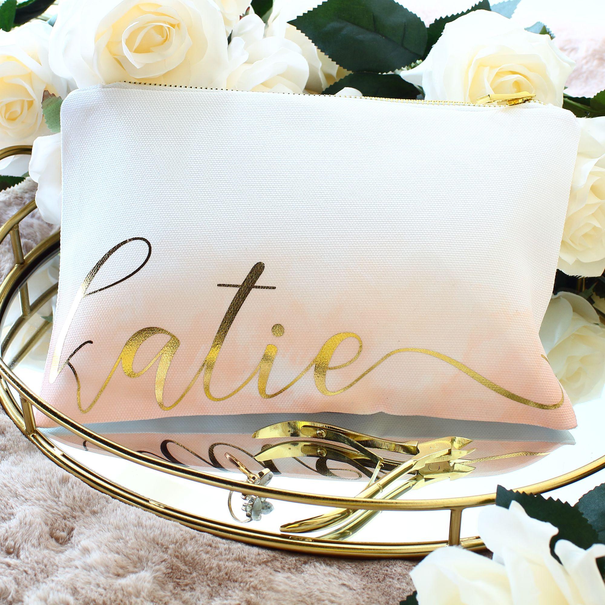 Luxury personalised makeup bags