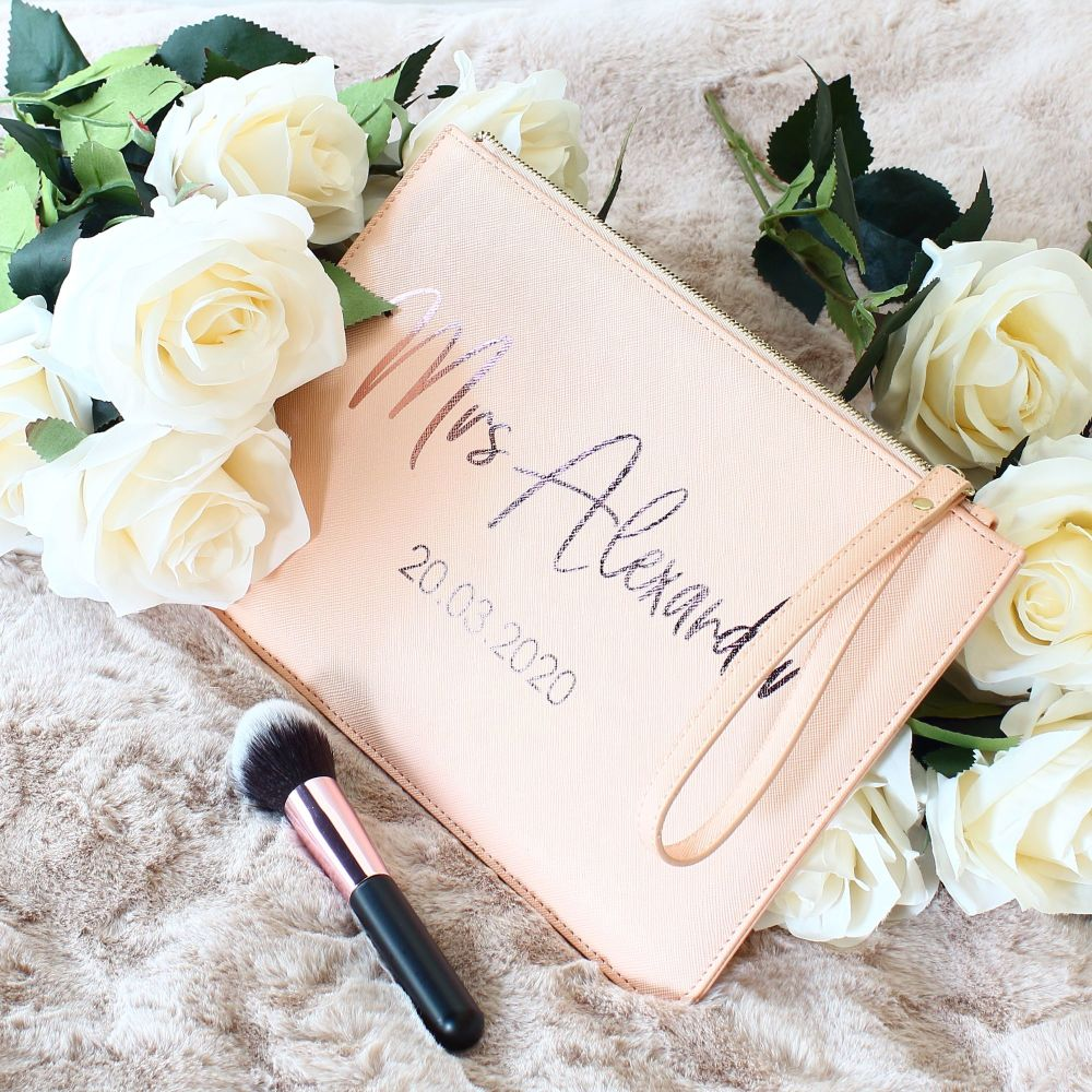 <!-- 079 --> Personalised Saffiano clutch bag