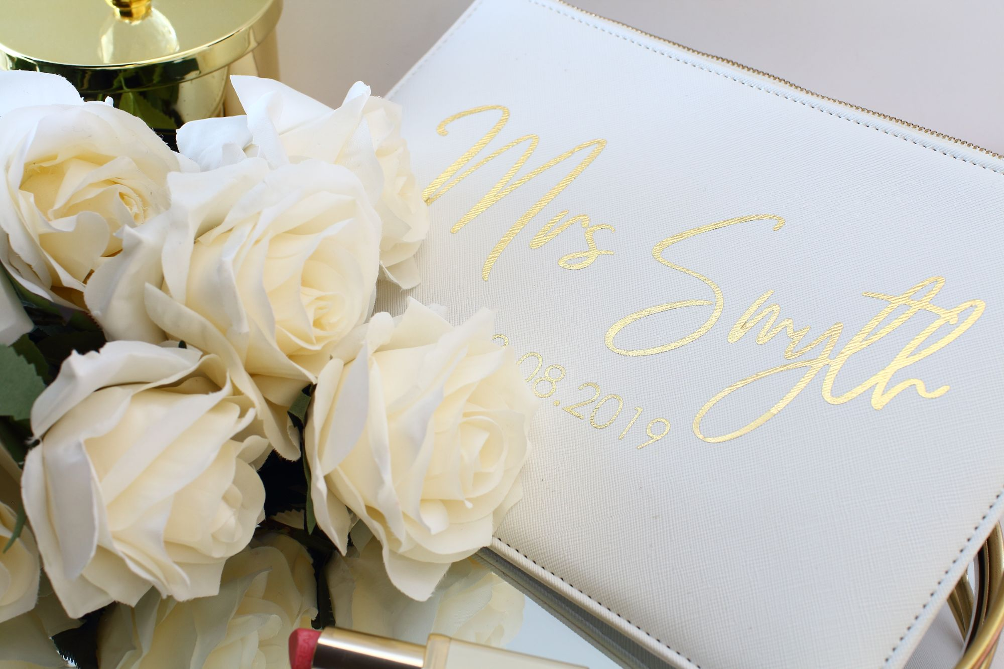 Personalised bridal clutch
