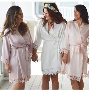 Unpersonalised plain Satin Lace Gown  (Gp)